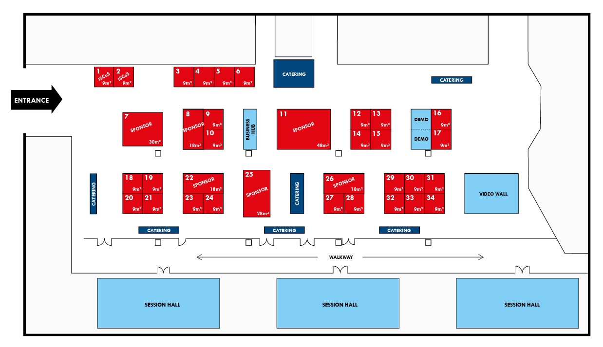 ISCoS 2019 Exhibition Floor Plan v1